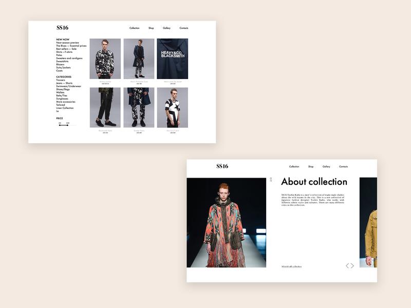 Yoshio Kubo web screen design ux strategy web design japanese fashion clothe uidesign typography ui  ux design