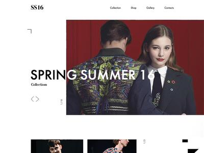Fashion look web page