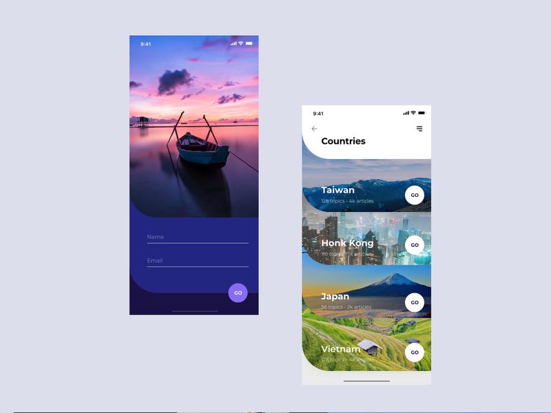 Asia Hikking App travel webdesign app figma app branding ux strategy uidesign typography ui  ux design