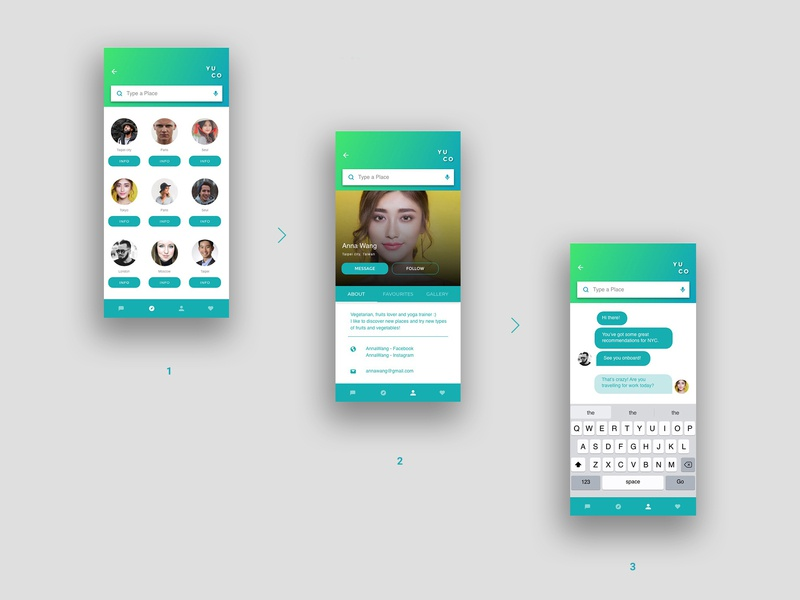 Yuco Profile eco logo webdesign travel figma design app branding ux strategy uidesign typography ui  ux design