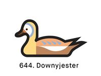 1000 Ducks, #644. Downyjester