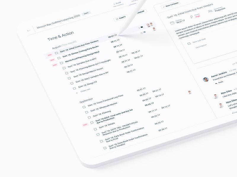 Task manager & Milestone Planning (SaaS web app) b2b social messaging chat calendar design task manager tasks planning calendar figma prototype data admin analytics interface ux dashboard minimal software web app