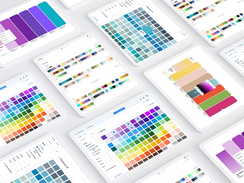 Color library (SaaS web app) style guide design system user interface design ui design user experience designer user experience ux design prototype admin interface dashboard minimal software color picker web app color library color