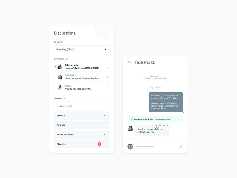 In-app chat concept (SaaS web app) web application design app design logistics procurement business startups saas admin prototype software web app minimal ux user experience designer uiux ui social communication chat app chat