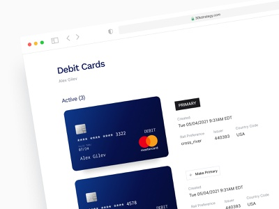 Credit Card Screen - Enterprise app web app ux figma web finance ui design enterprise software enterprise ux web design web application design web app design fintech ux design clean interface saas analytics admin minimal software web app