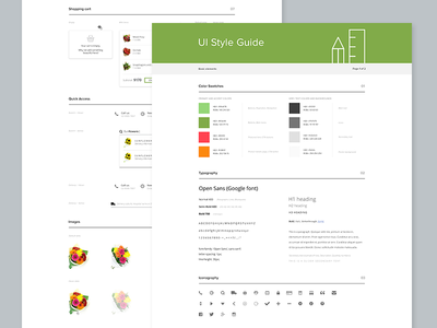 UI Style guide style guide ui ux guide flat clean web design workflow process document ui guide interface