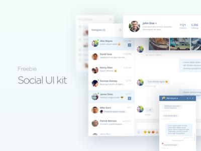 Freebie - Social Ui Kit (Psd)