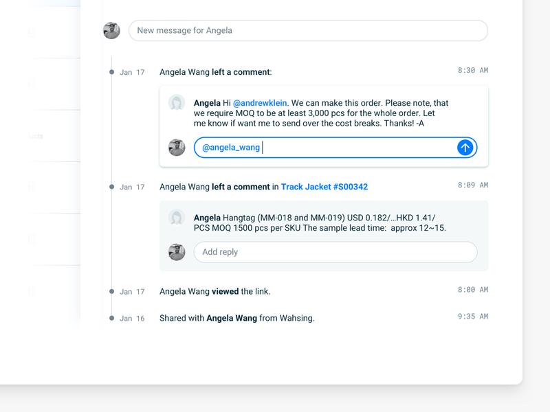 Activity log (SaaS web app) comments prototype admin analytics dashboard interface ux minimal software web app messaging app message activity feed activity