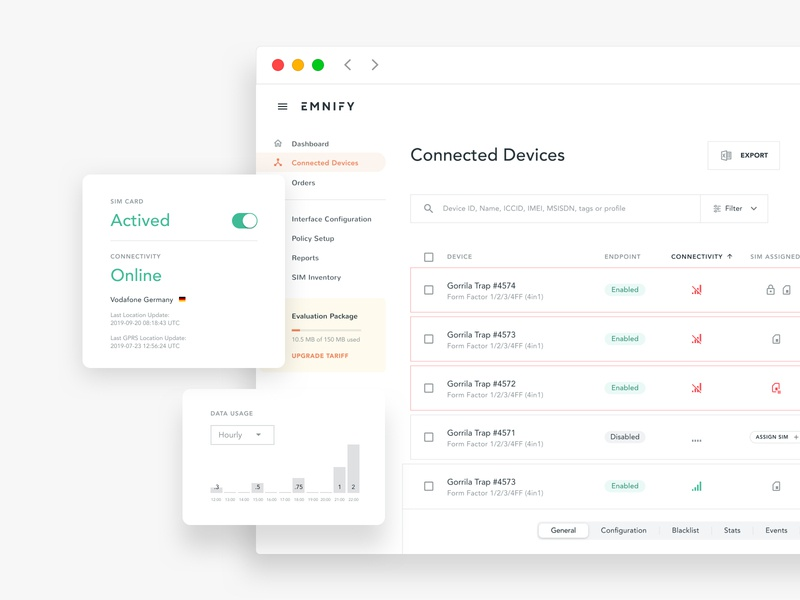 Device Inventory (SaaS Web App) ui  ux product design prototype admin software interface data dashboard fintech artificial intelligence ux web app software design saas design