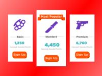 Post-Apocalypse Survival Subscription Service Pricing Page
