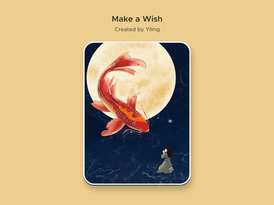 Make a wish illustration procreate