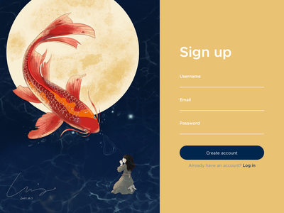 Make a wish/Sign up signup screen illustrationused illustration dashboard design dashboard ui signup