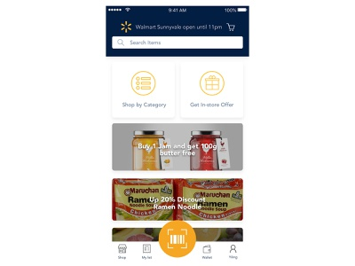 Redesign Walmart mobile app redesign shopping app ui mobile app