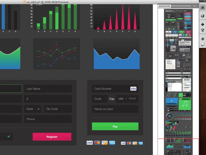 Working the kit data visualization ui kit illustrator interface form