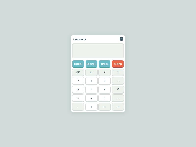 Calculator calculator ui interface visual design