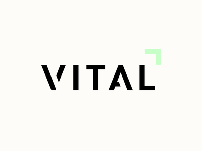 Logo : Vital Fitness Club health gym logotype logo identity business branding