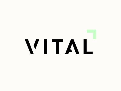 Logo : Vital Fitness Club health gym logotype logo identity business branding