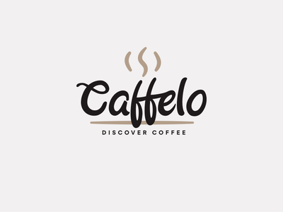 Logo : Caffelo online drink roast community logo identity coffee cafe brown