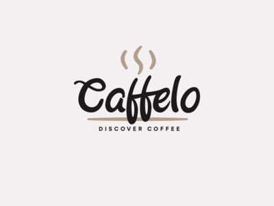 Logo : Caffelo online drink roast community logo identity coffee cafe brown
