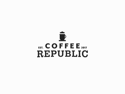 Coffee Republic wordmark logotype logomark identity font brand graphic seal lockup monogram mark logo