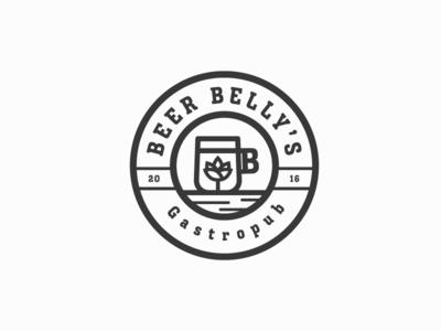 Beer Belly's wordmark logotype logomark identity font brand graphic seal lockup monogram mark logo