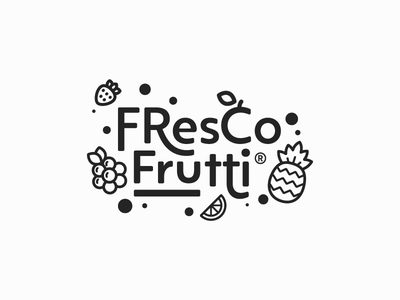 Fresco Frutti wordmark logotype logomark identity font brand graphic seal lockup monogram mark logo