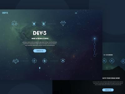 Landing page for web studio web studio dev-3 landing page