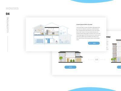 Homewater. Illustrations. Houses illustration house