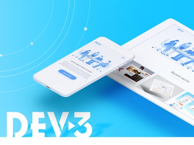 DEV-3. Main page illustration design web development web studio