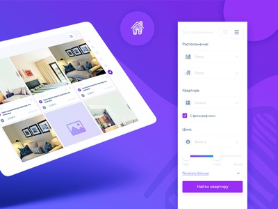 Apartment search page responsive search page filter