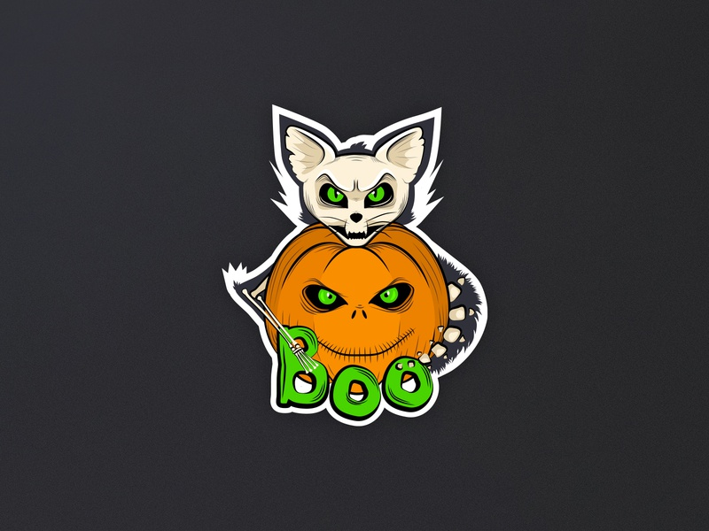 Halloween sticker art sticker mule sticker halloween illustration