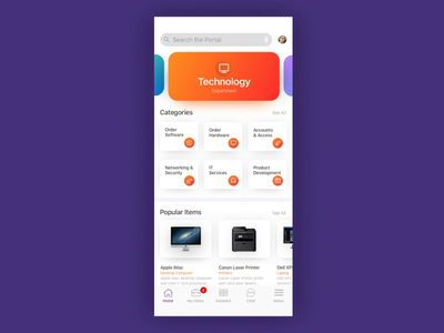Native Mobile App Concept for ServiceNow Platform user interface mobile design mobile app ae after effects mobile ui motion serviceportal servicenow ui