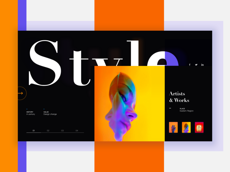 Style of Art art home uidesign ux vector web design web logo 设计 colour discover ios11 share design