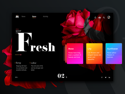 Keep fresh homepage colour card fresh keep design share webpage discover color