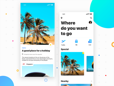 Yearning for concept app purchase recommend location travel 插图 ios11 ui 颜色 样式 分享 设计