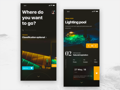 Inspiration travel iphonexs travel night mode 样式 发现 ios11 颜色 ui 分享 设计