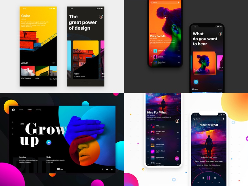 2018 ux designer web iphone 向量 插图 发现 颜色 应用 ios11 样式 ui 分享 设计
