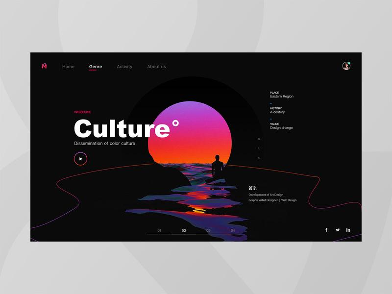 Cultural webpage gradual change web 向量 商标 插图 应用 颜色 ui 分享 设计