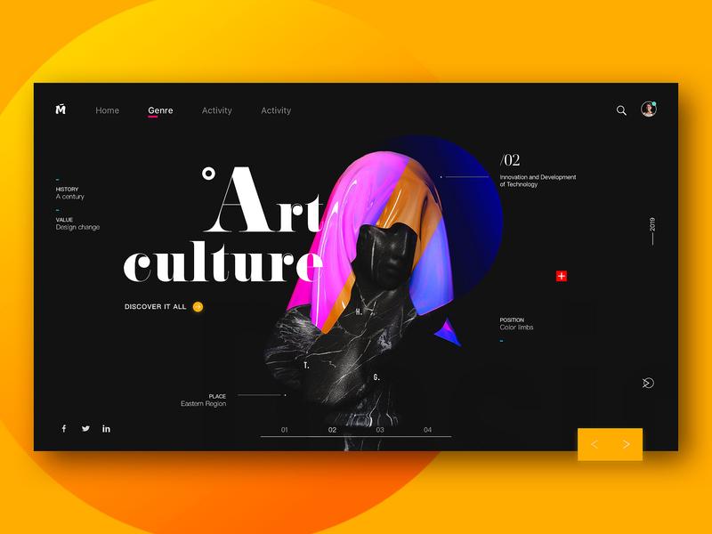 Art culture webdesign web branding illustration 颜色 discover color style ui design