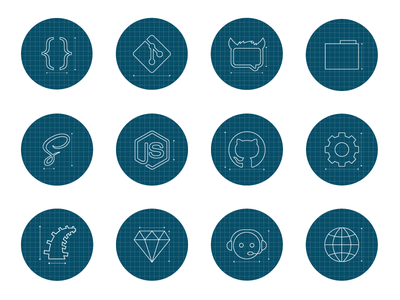 Foundation Docs Icons foundation zurb getting started sass flat circles icons outline blueprint