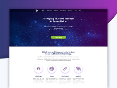 Landing blockchain page