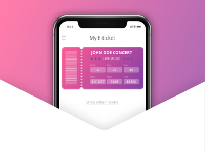 E-ticket concept (mobile app)
