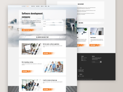 Software development company (landing page)