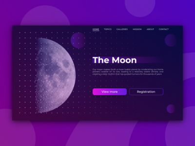 The Moon - landing page
