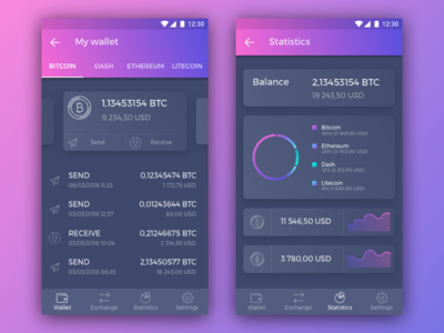 Crypto wallet - mobile app