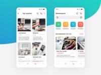 Market place. E-commerce. Online retail service