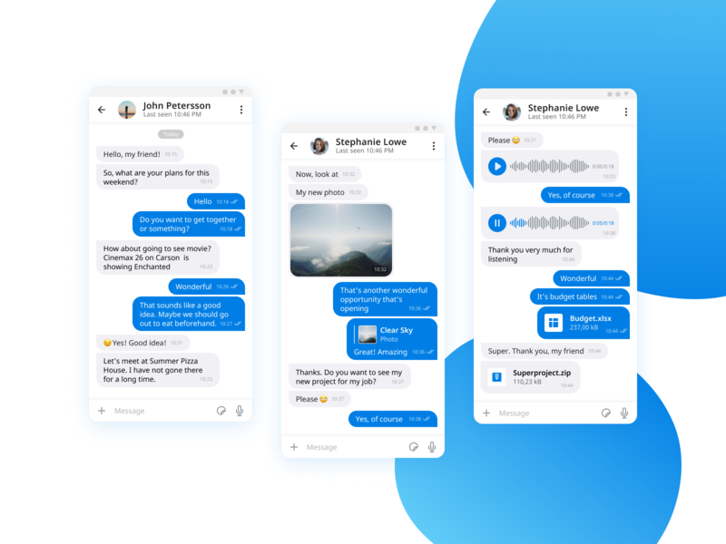Messenger. Chat screen