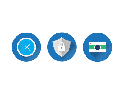 TaxPro Docs Icons design material minimal tax security icons simple