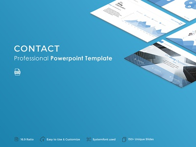 Contact Powerpoint Template slide professional pptx template presentation powerpoint portfolio popular modern creative corporate business