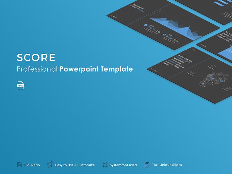 Score Powerpoint Template By Haluze Dribbble Dribbble